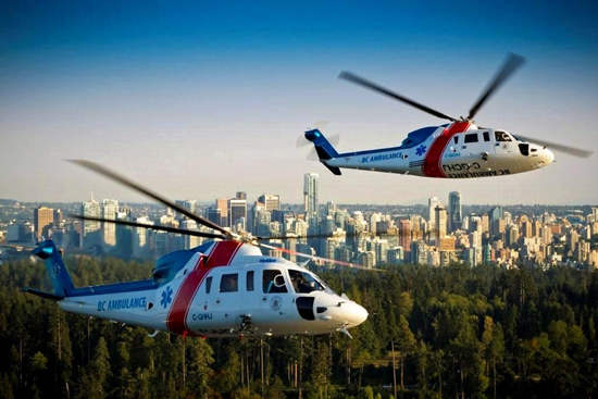 Air medical response via helicopter and fixed wing aircraft is a big part of the BCAS system.
