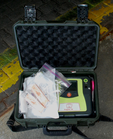 Boston Fire Department crews now carry naloxone kits with their AEDs.