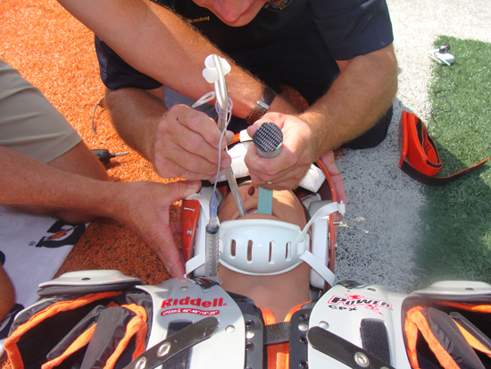 Intubating a Patient Wearing a Helmet