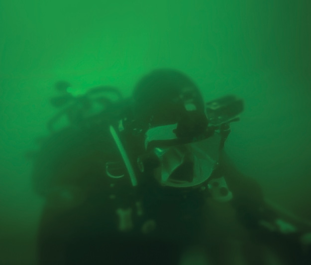 Paramedic Dave Naples, during a training dive on the Allegheny river. Photo courtesy Simon Taxel