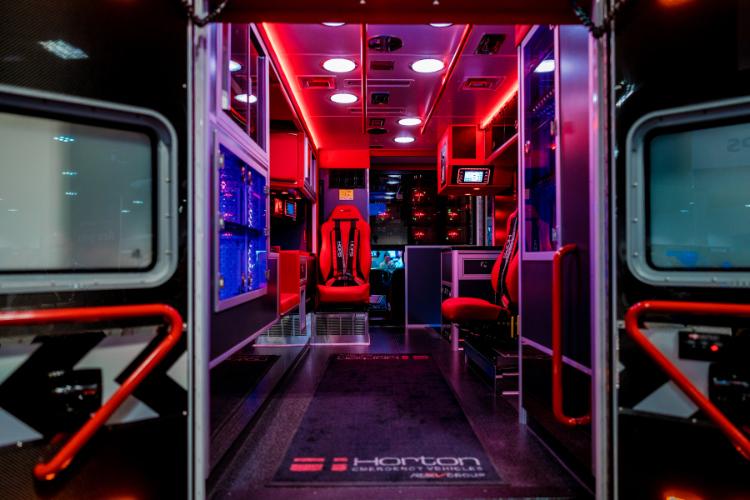 Back of an ambulance.