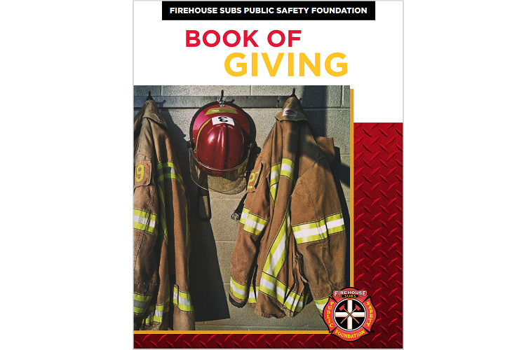 """Firehouse Subs Public Safety Foundation Unveils First Annual """"˜Book of Giving'"""