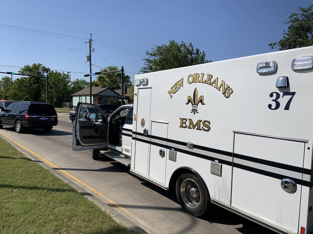 A New Orleans EMS ambulance was stolen at Touro Infirmary in New Orleans on Thursday.