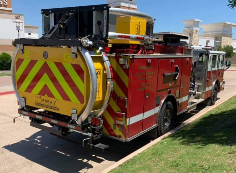 Grand Prairie Fire Department has retrofitted its engines with crash attenuators.