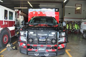 The Keene Fire Department unveils newest ambulance.