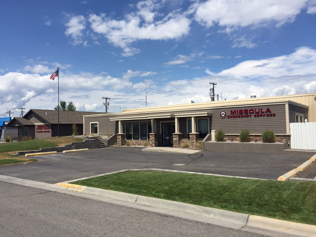 The Missoula Emergency Services building.