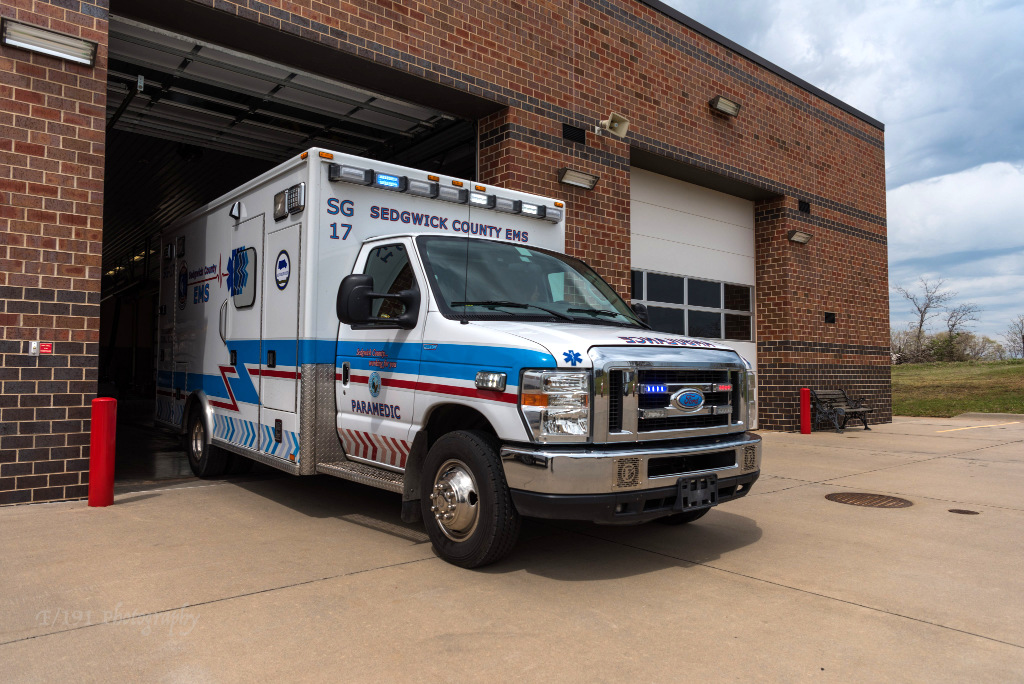 A Sedgwick County EMS Ambulance