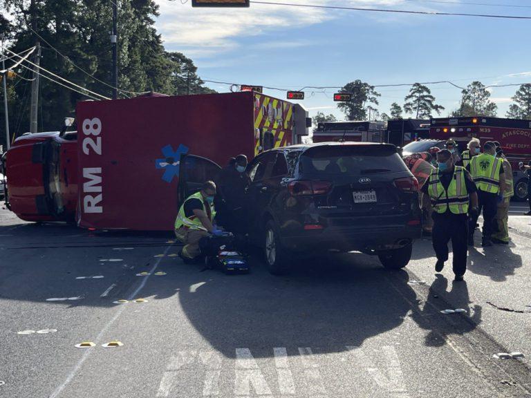 Three Taken to Hospital after TX Ambulance Crash
