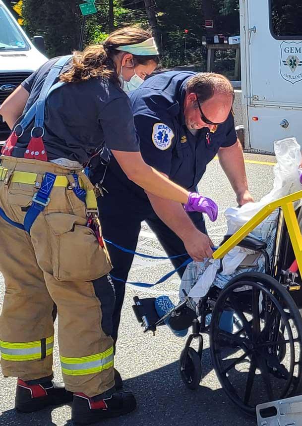 NJ EMS task force members assist a patient