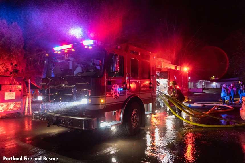 Portland fire engine at December 2020 fire