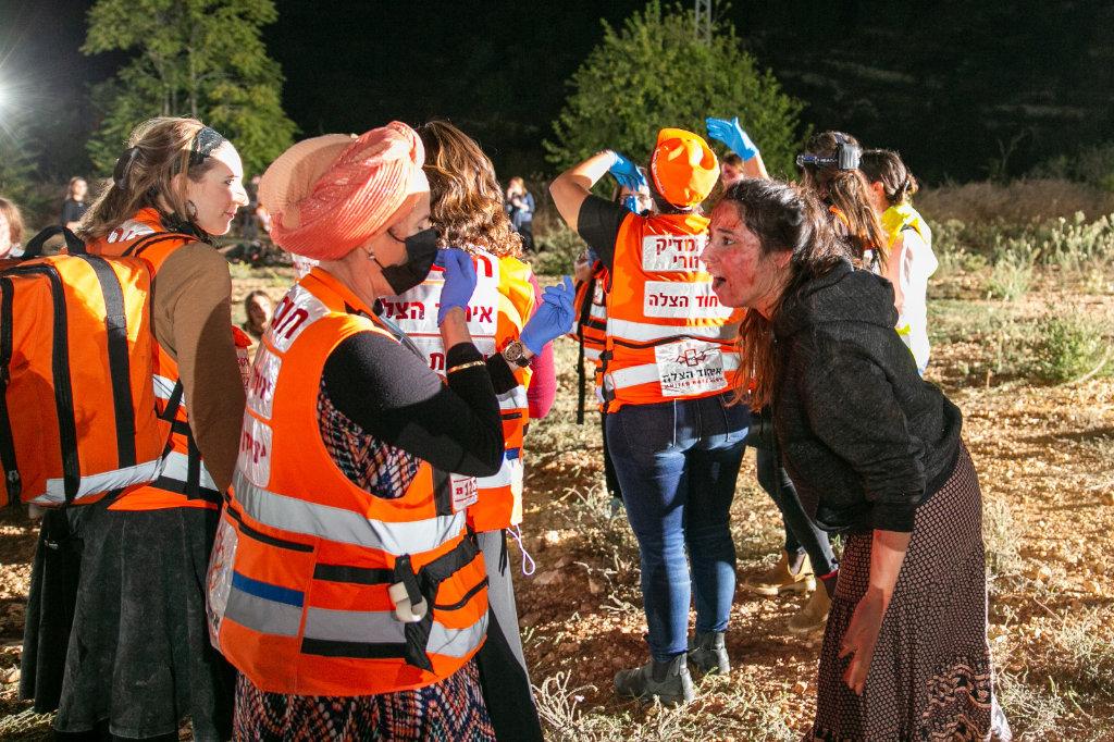 United Hatzalah's Women's Unit Holds MCI Drill